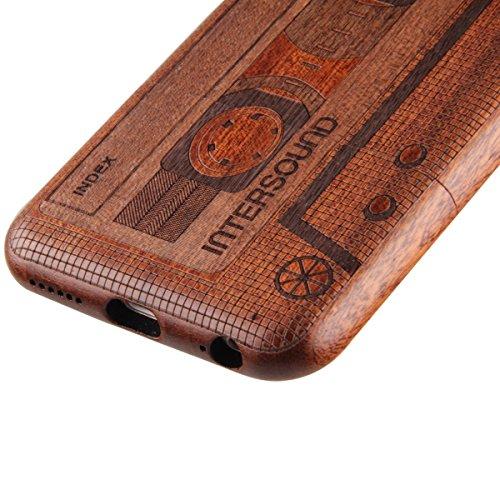 Custodia per iphone 6 Plus/6S Plus, iphone 6 Plus 5.5 Pollici Cover rigida in legno, Ukayfe Impressionante texture di superficie design realizzata a mano legno / Palissandro / legno di rosa naturale d nastro magnetico