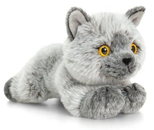 Lashuma Plüschtier Katze Britisch Kurzhaar grau, Signature Kittens Kuscheltier ca. 30 cm