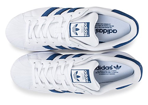 adidas Herren Superstar Laufschuhe Weiß (Footwear White/collegiate Navy/collegiate Navy)
