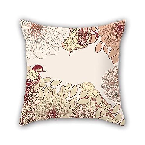 Pillo 45,7x 45,7cm/45par 45cm Fleur Couvre-lit Taie d'oreiller, chaque côté s'adapte pour SES proches, café, maison, intérieur, pub, Père, Banc