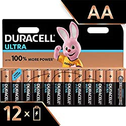Duracell Ultra AA Alkaline Batteries , 1.5 V LR06 MX1500 (Packaging may Vary), Pack of 12