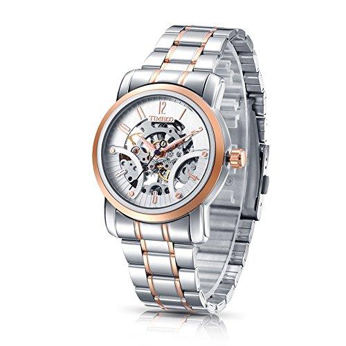 Time100 orologio Analogico Scheletro in Acciaio Uomo#W60041G.03A