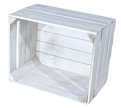 Juego de 4Shabby Chic Vintage Caja de madera–Manzana Caja–