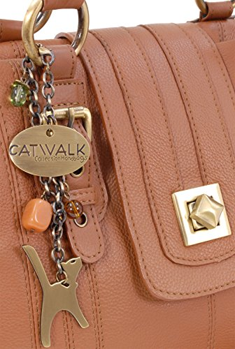 di chiaro Kate pelle scatto Marrone a con Catwalk a Collection chiusura in spalla Borsa 1wnBfS8qf