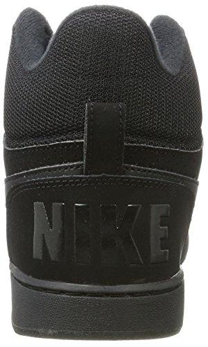 Nike Wmns Court Borough Mid, Sneaker a Collo Alto Donna Nero (Black)