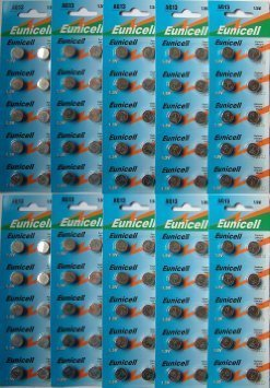 Eunicell Lot de 100 piles bouton alcalines AG13 A76 L1154 SR44 G13 357 PX76A V13GA by Eunicell