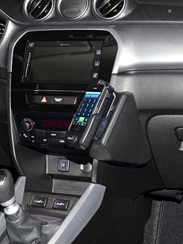 KUDA 2045 Halterung Kunstleder schwarz für Suzuki Vitara (LY) ab 2015 Iso Mount (iso-radios