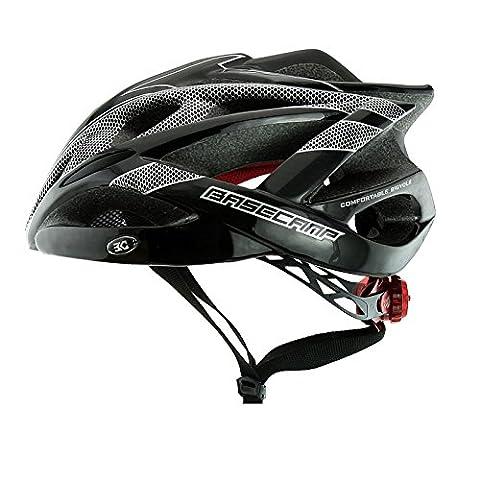 250g Casque Ultra-léger - Casque de vélo de sport réglable Casque de vélo Casque de vélo pour vélo de route et de montagne, Motocyclette pour hommes et femmes adultes, Course de jeunes, Protection de sécurité ( Color : Black silver )