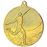 10 Stück Medaille Gold Fußball aus Stahl, 50 mm x 3 mm MD12904