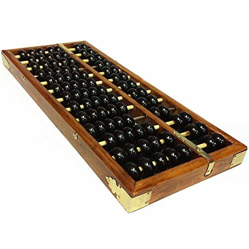 Ábaco chino, vintage, de 13 dígitos, de madera, herramienta manipulativa de aprendizaje...