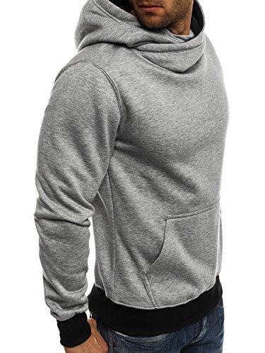 OZONEE Uomo Maglia Pullover Pullover con cappuccio Pullover Sportivi Militare Mimetico RED FIREBALL 1120 grigio_JS-2078-10