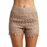 KingProst-shorts Kurze Hose Damen Sommer Freizeithose Boho Style Strand Shorts Boardshorts Damenhosen mit Gummizug Elegant Bermuda Mini Hose Kurzschlüsse (S)