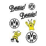 Unbekannt Borussia Dortmund Aufkleber, Glasdekoraufkleber, Sticker BVB 09 - Plus Gratis Lesezeichen I Love Dortmund