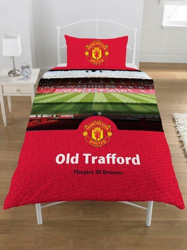 Manchester United FC Old Trafford Single Duvet Cover & Pillowcase Set