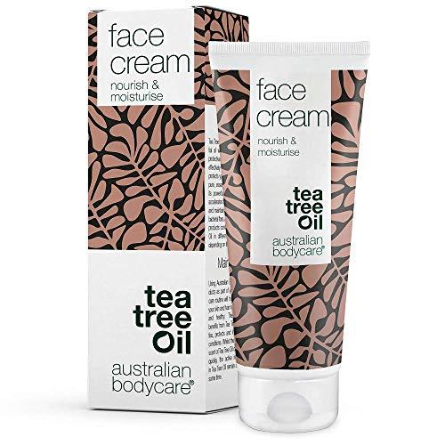 Australian Bodycare Face Cream 100 ml - Gesichtscreme bei unreiner Haut für Männer & Damen. Anti-Pickel und Anti-Mitesser Feuchtigkeitscreme. Vegane und natürliche Pflege. Blackhead Remover face cream - Natürliche Remover
