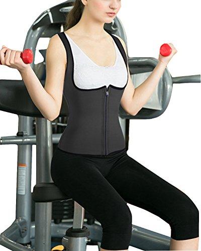 Junlan Slimming Neoprene Vest Hot Sweat Shirt Body Shapers for Weight Loss Womens