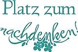 GRAZDesign 650107_50_054 Wandtattoo lustige Sprüche für Klodeckel | Badezimmer-Tattoo an die Wand/Fliesen/Spiegel (76x50cm//054 türkis)