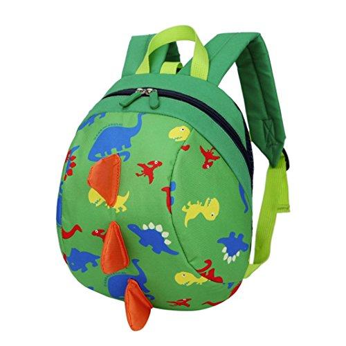 sunnymi Backpage Unisex★Kinder Rucksack★Mini Backpack Mädchen Jungen/Dinosaurier-Dorsalflossen Muster/Kinder Gartentasche/Schule Baby-Kindergarten Hartschale (Grün) (Plaid Tasche Zwei Anzug)