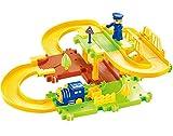 #2: Catterpillar 23 Pcs Battery Operated 3D Intelligent Track Train with Upper & Lower level Bridges