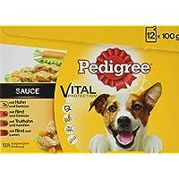 Pedigree Vital Protection Hochwertiges Huhn, Rind und Truthahn, 48 Beutel (4 x 12 x 100 g)