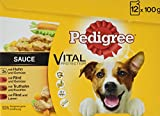 Pedigree Hundefutter Nassfutter Adult in Sauce, 48 Portionsbeutel (4 x 12 x 100g)