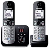 Panasonic KX-TG6822EB Twin DECT Cordless Telephone Set with Answer Machine