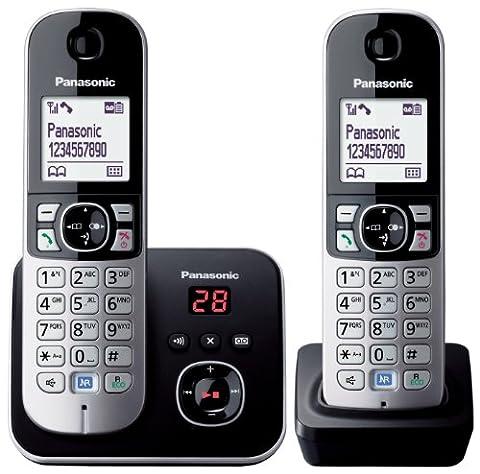 Panasonic KX-TG6822EB Twin DECT Cordless Telephone Set with Answer