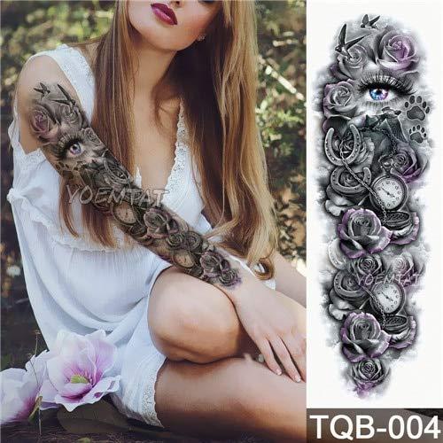 Tattoo Waterproof Temporary Tattoo Sticker Skull Angel Rose Lotus Man Full Pattern Body Art Tattoo Girl 09 ()