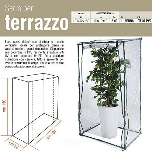 Serra per Terrazzo con Telo PVC (H 150 cm)