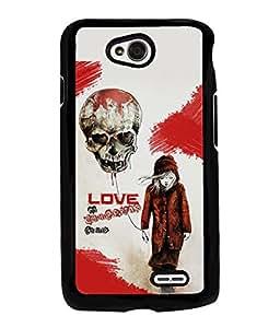 Fuson Love Skull Back Case Cover for LG L70 - D3739