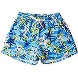 OIKAY Badeshorts Damen hot Pants Shorts für Frauen Schnell trocknendes Strandsurfen Laufen Schwimmen Wassersport(Blau6,S)