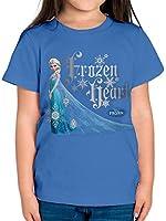 Girl's Frozen Heart Short Sleeve T-Shirt
