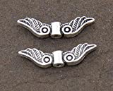 QHDZ Metall Engel Flügel Perlen Schmuck Spacer Perlen für DIY Zubehör