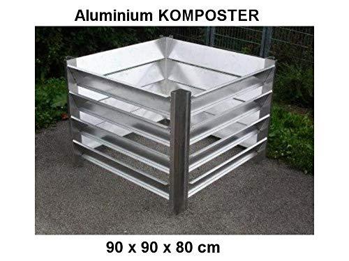 KOMPOSTER 90 x 90 x 80 (Innenmaß) aus witterungsbeständigem Aluminium, Metall