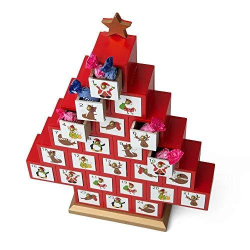 Dmail – Calendario dell'avvento Albero di Natale in Legno