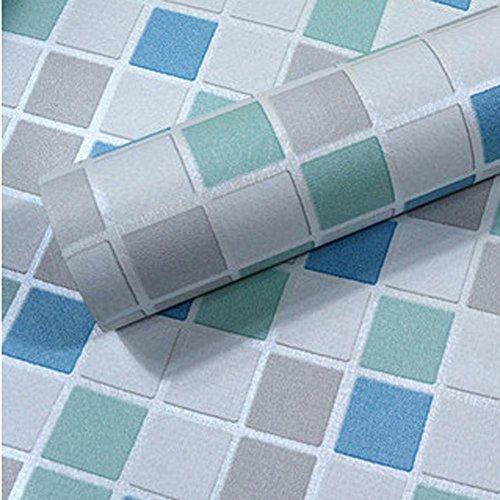 45x1000cm Mosaic Anti oil Wall stickers PVC Self adhesive Wallpaper Waterproof , , 6030-2