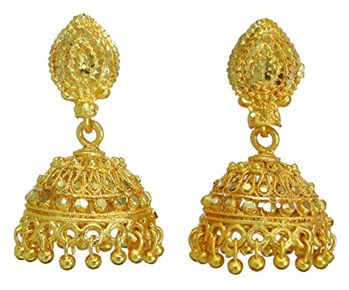 Banithani Traditionelle ethnische indische vergoldete Jhumka Ohrring Set Frauen Hochzeit Schmuck
