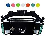 FunH2OBelt (Turquoise - Grande) Cintura Per Idratazione Hydration Running Belt - Marsupio Fitness per Attività Outdoor con Tasca Impermeabile per iPhone, iPod, Samsung & tutti gli Smartphone