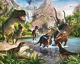 Walltastic WT4012 Land der Dinosaurier, Tapete, Wandbild, bunt, 52.5 x 7 x 18.5 cm für Walltastic WT4012 Land der Dinosaurier, Tapete, Wandbild, bunt, 52.5 x 7 x 18.5 cm
