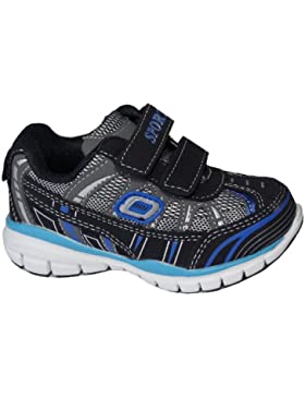Kinder Sportschuhe, sehr leicht, mit Klettverschluß, schwarz/blau, Gr. 26-31,