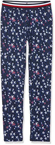 Tommy Hilfiger Mädchen Essential Mini Printed Leggings, Blau (Black Iris/Multi 002), 164 (Herstellergröße: 14) - Essential Leggings