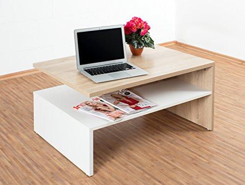 Articolo tavolino da salotto apopi finitura bianco con