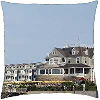 bar harbor inn, bar harbor, maine - Throw Pillow Cover Case (16