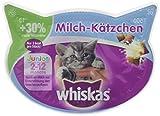 Whiskas Katzensnacks Knuspertaschen Junior Milch-Kätzchen für Kitten, 8er Pack (8 x 55 g)