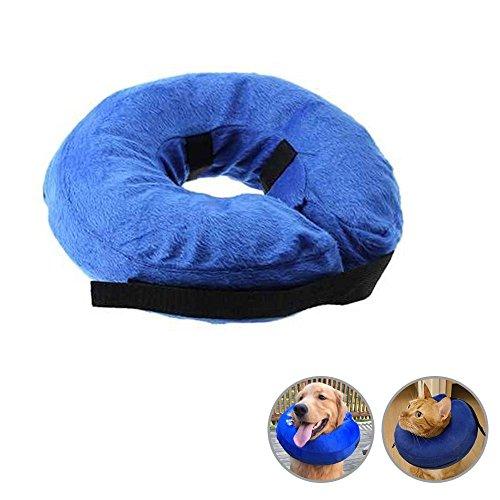 KOBWA Aufblasbare Halskrausen Kragen für Hunde Katze, Inflatable Schutzkragen Hunde Katze, M (1 2 28 3 4)