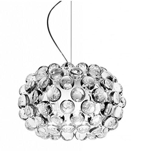 Foscarini Caboche suspension transparente - Standard, Petit, 2 metri