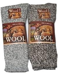 6 Pairs Mens Luxury Lambs Wool blend socks. (UK 6-11)