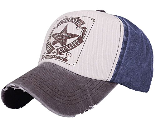 Unisex Baumwolle Baseball Cap Star Sport Mütze Baseballkappe Snap back Trucker MFAZ Morefaz Ltd (Brown Peak) (Cap Brown Fitted)
