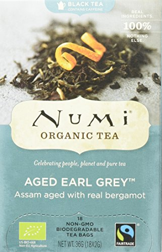 Numi Organic Aged Earl Grey - Bergamot Assam 18 Beutel, 3er Pack (3 x 36 g) - Bio