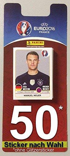 Panini UEFA EURO 2016 France - 50 Sticker nach Wahl aussuchen (keine Glitzersticker)
